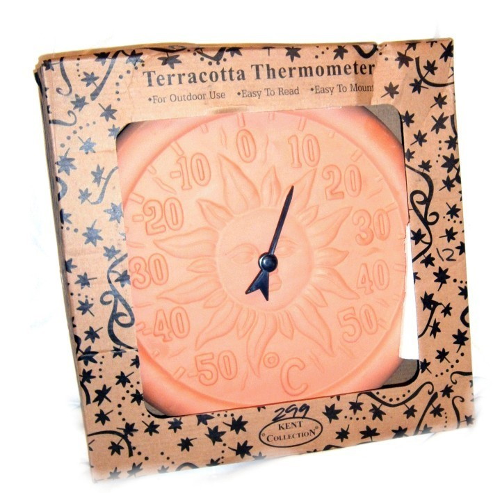 Kent Collection Terracotta Thermometer RRP £5.99 CLEARANCE XL £2.99