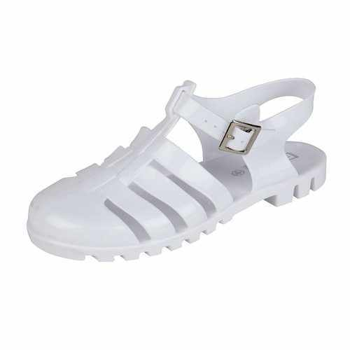 Truffle Collection WHITE PVC Jelly Sandals SIZE 6 RRP £12.99 CLEARANCE XL £2