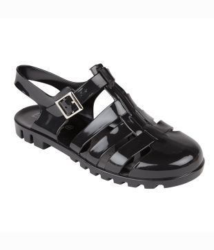 The Truffle Collection SIZE 4 BLACK PVC Womens Jelly Sandals RRP £12.99 CLEARANCE XL £2