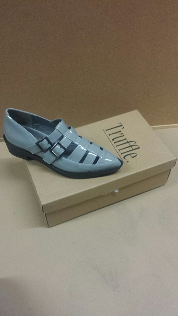 Truffle Collection Womans Shoe GREY SIZE 4 RRP £24.99 CLEARANCE XL £3