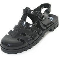 ONLINE SPECIAL Truffle Collection PVC BLACK JELLY Sandal SIZE 6 RRP £14.99 CLEARANCE XL 99p