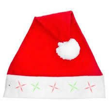 Light Up Santa Hat RRP £1.99 CLEARANCE XL £0.99
