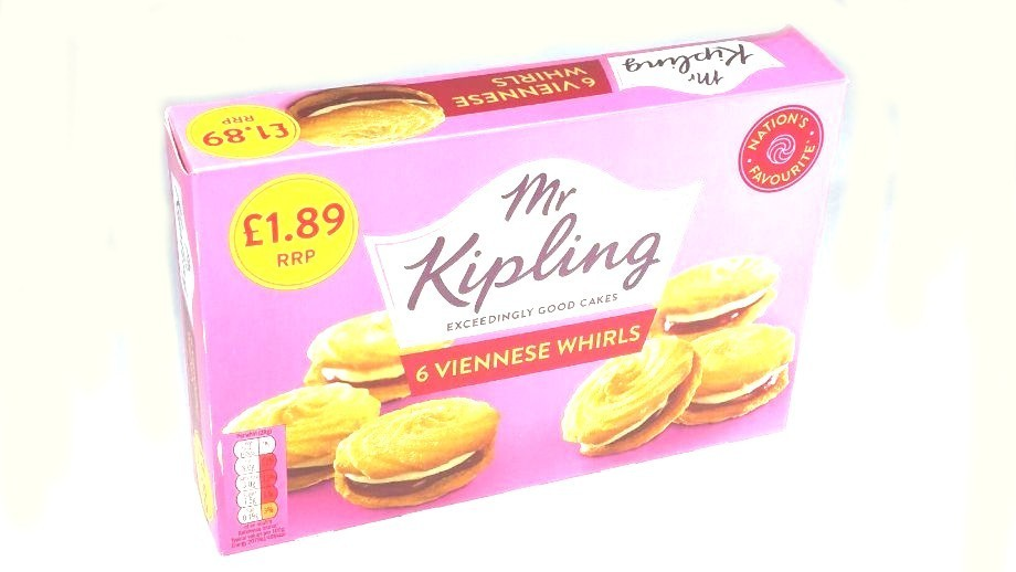 Mr Kipling 6 Viennese Whirls RRP £1 79 CLEARANCE XL £0 59 each or 2 for £1  or 3 for £1 20