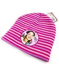 Disney Violetta Pink Striped Hat RRP £4.99 CLEARANCE XL £0.99each or 2 for £1.50