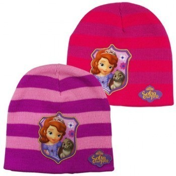 Sofia The First Purple and Pink Striped Hat RRP £4.99 CLEARANCE XL £0.99 each or 2 for £1.50
