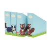 Krooom Set Of 4 Animal File Holders Eco Friendly Recyclable RRP £9.99 CLEARANCE XL £3.99