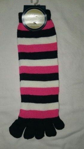 Kids Snugadoo Super Soft 5 Toe Novelty Socks Pink, White & Black RRP £3.99 CLEARANCE XL £1.00