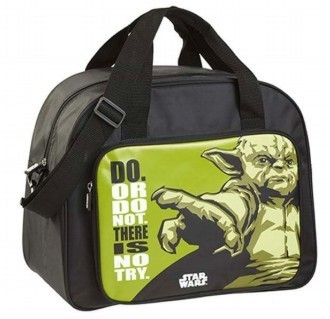 Star Wars Yoda Zipped Travel Bag 32cmx39cm RRP £19.99 CLEARANCE XL £2.50