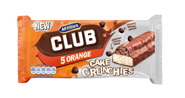 Mcvities Club Orange 5 Cake Crunchies Nov 19 Rrp 189 Clearance Xl 59p Or 2 For 1