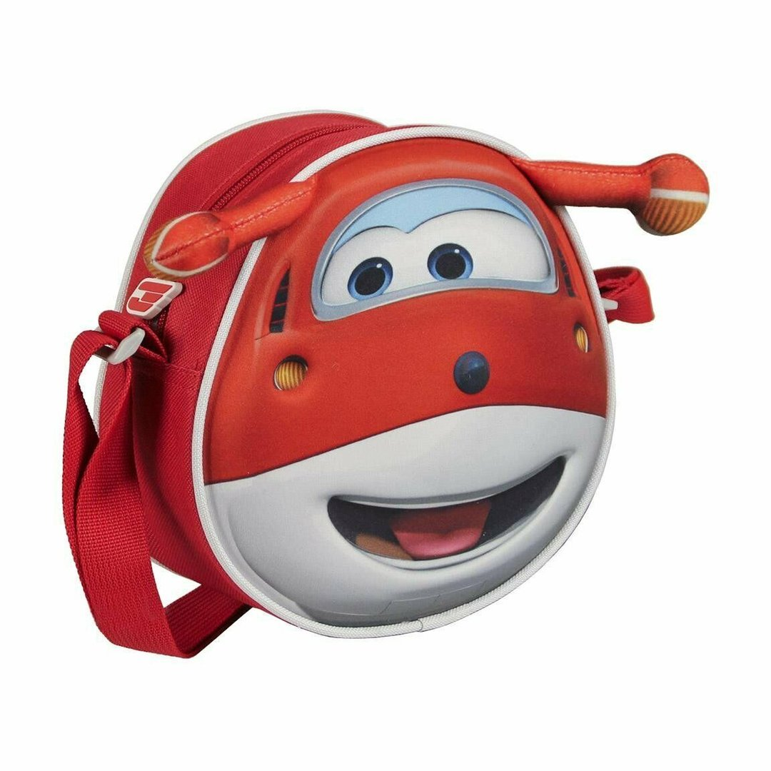 Super Wings 3D Red Circular Backpack RRP £12.99 CLEARANCE XL £2.50 or 2 for £4