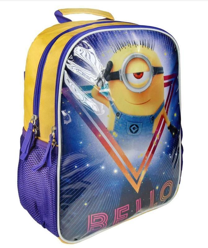 Minions 3D with Lights Backpack Rucksack 38cm RRP £19.99 CLEARANCE XL £5.99