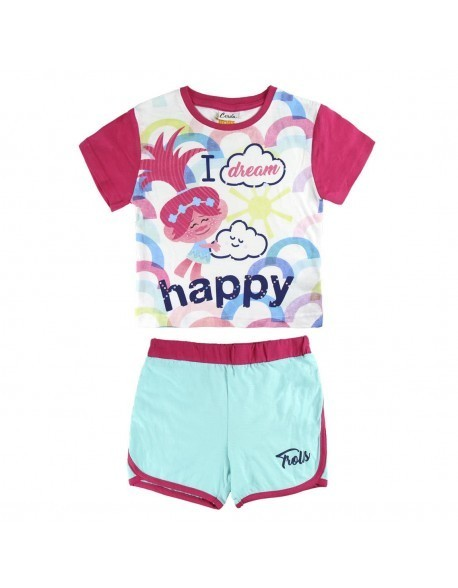 Trolls Pyjama Shirt and Short Set (AGE 3-7 Years) RRP £12.99 CLEARANCE XL £2.99 each or 2 for £5