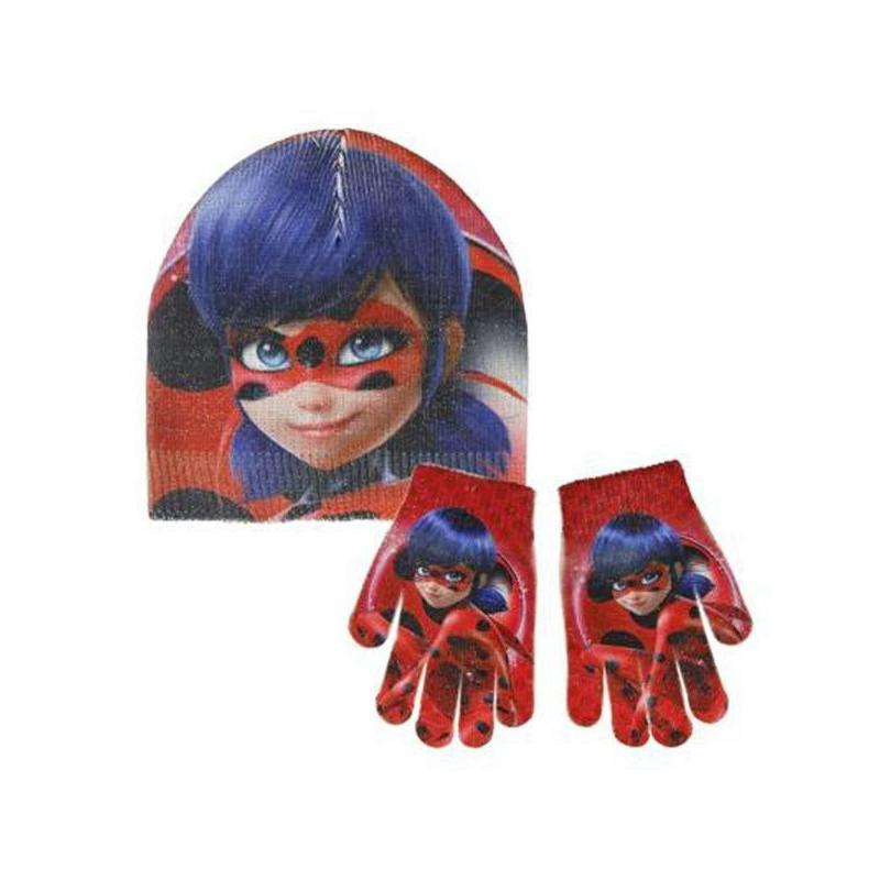 Miraculous Tales Lady Bug Hat & Gloves Set RRP £5.99 CLEARANCE XL 99p