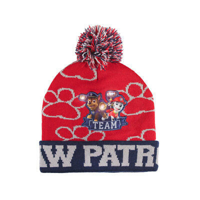 Nickleodeon Red Paw Patrol Bobble Hat RRP £5.99 CLEARANCE XL £2.99