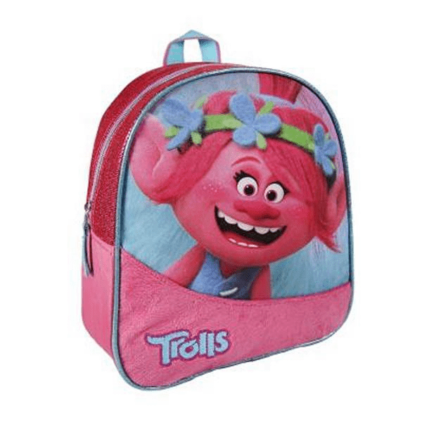 Pink Trolls Backpack Childrens Girls School Bag RRP £9 CLEARANCE XL £2.99