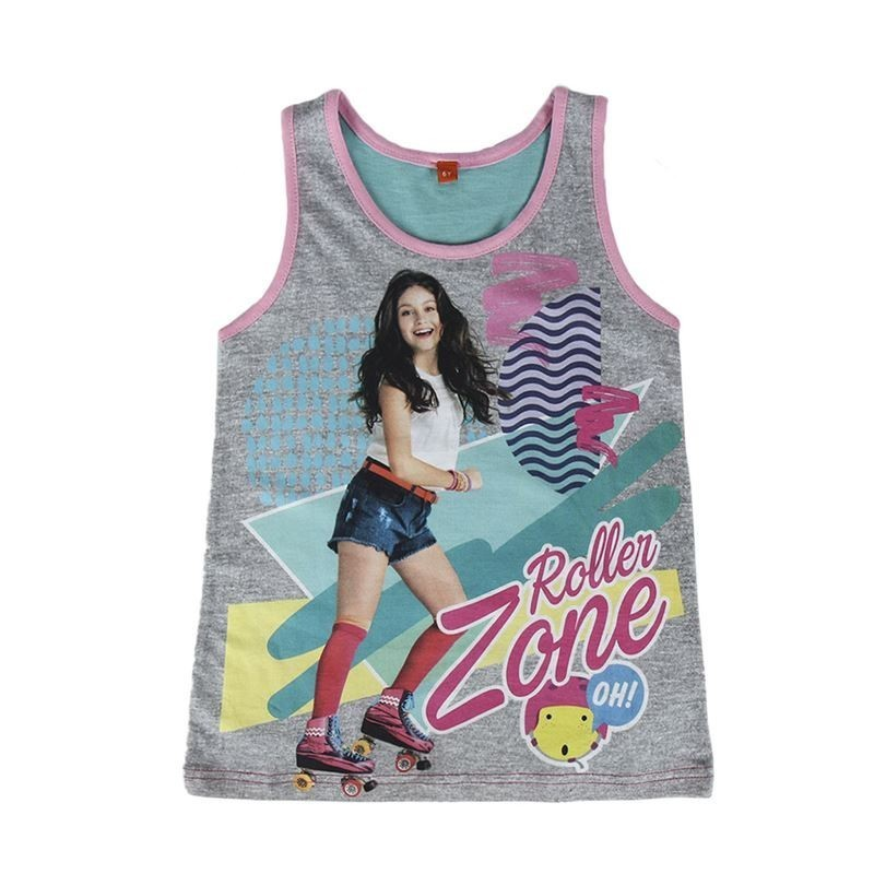 Disney Soy Luna No Sleeve Roller Zone T-Shirt (6Years/116cm) RRP £7 CLEARANCE XL £1.99