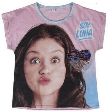 Disney Soy Luna Short Sleeve Sequined T-Shirt (6Years/116cm) RRP £7 CLEARANCE XL 1.99
