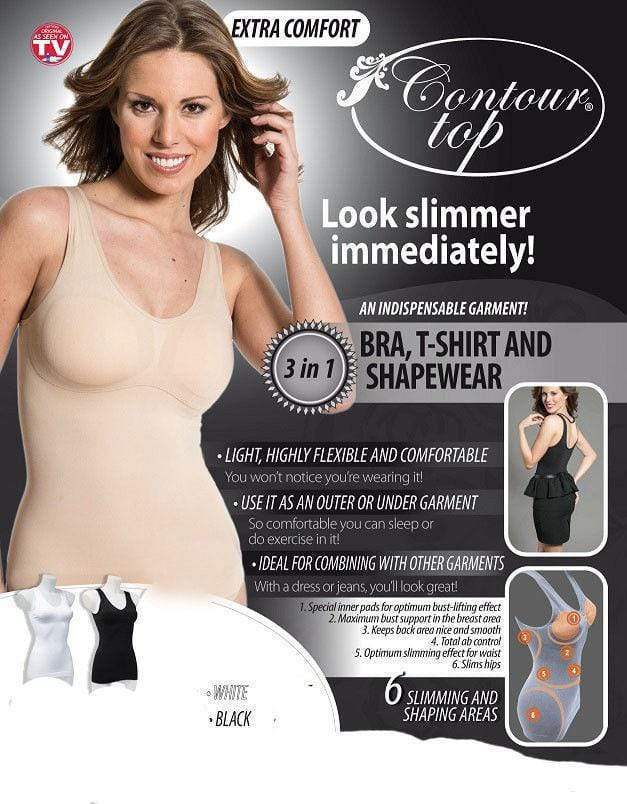 Comfort Top Extra Comfort White 3-in-1 Small Bra, T-shirt, Shapewear RRP £14.99 CLEARANCE XL £3.99