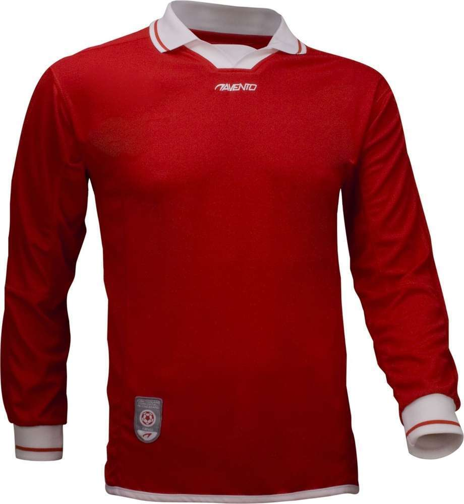Avento Junior Red Long Sleeve Football Shirt Size 16Yrs Small Adult RRP £15.99 CLEARANCE XL £1