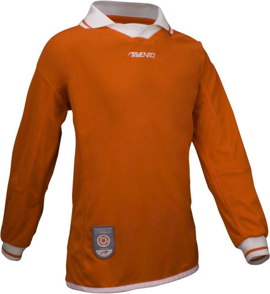 Avento Junior Orange Long Sleeve Football Shirt Size 16Yrs Small Adult RRP £15.99 CLEARANCE XL £1