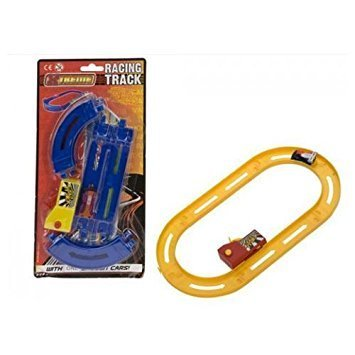 Xtreme YELLOW Mini Racing Track with One Saloon Car RRP £3.99 CLEARANCE XL £1.99