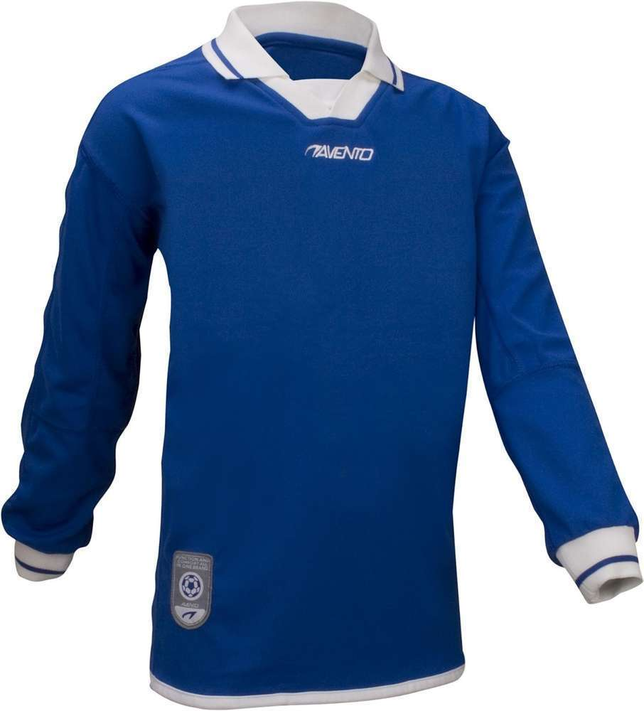 Avento Junior Blue Long Sleeve Football Shirt Size 16Yrs Small Adult RRP £15.99 CLEARANCE XL £1