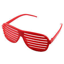 Red Retro Striped Plastic Sunglasses RRP £4.99 CLEARANCE XL £1