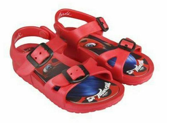 Miraculous Lady Bug Red Childrens Beach Sandals UK Size 10/11 RRP £9.99 CLEARANCE XL £2.99