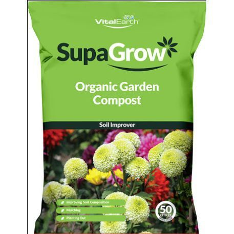 Vital Earth Supagrow Organic Garden Compost Soil Improver RRP £5.99 CLEARANCE XL £2.99 or 4 for £10