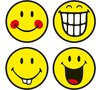 Zak Designs Smiley Tempered Glass 4pc Set of Coasters RRP £5.99 CLEARANCE XL £2