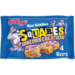 1p SPECIAL Kellogg's 4x Rice Krispies Squares Unicorn Bars 28g RRP £1.99 CLEARANCE 1p