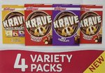 24 HOUR FLASH SPECIAL Kellogg's Krave Variety Pack 4x 30g RRP £2.99 CLEARANCE XL 1p