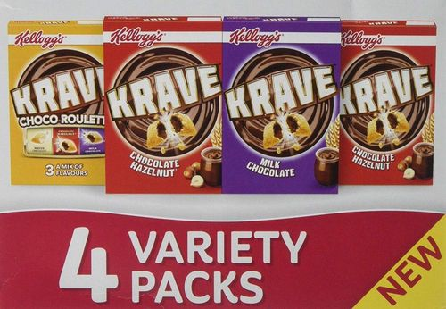 FLASH SPECIAL Kellogg's Krave Variety Pack 4x 30g RRP £2.99 CLEARANCE XL 1p