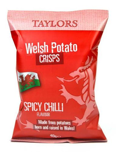 Taylors Welsh Potato Crisps Spicy Chilli Flavour 150g RRP £1.39 CLEARANCE XL 79p or 2 for £1.50