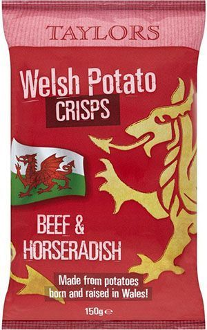 Taylors Welsh Potato Crisps Beef & Horseradish 150g RRP £1.39 CLEARANCE XL 79p or 2 for £1.50