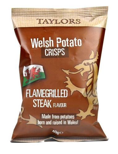Taylors Welsh Potato Crisps Flamegrilled Steak 150g RRP £1.39 CLEARANCE XL 79p or 2 for £1.50