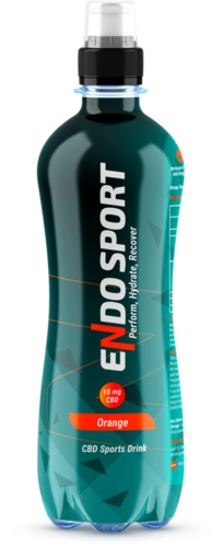 CASE PRICE 12x Endo Sport Orange CBD Sports Drink 500ml RRP £21.99 CLEARANCE XL £4.99