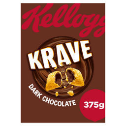 NEW PRICE Kellogg's Krave Dark Chocolate 375g RRP £2.99 CLEARANCE XL 59p each or 2 for £1