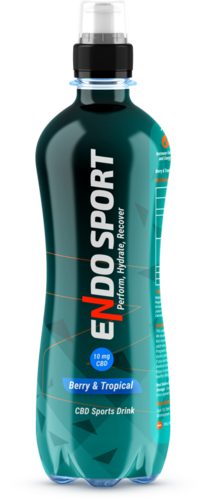FREE DELIVERY CASE 12x Endo Sport Berry & Tropical CBD Sports Drink 500ml RRP £21.99 CLEARANCE £9.99
