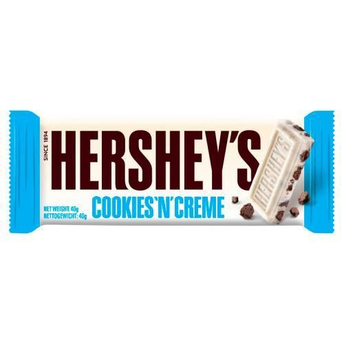 USA Hershey's Cookies 'N' Creme 40g RRP 89p CLEARANCE XL 59p