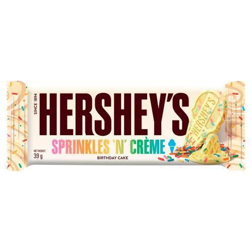 USA Hershey's Sprinkles 'n' Crème Birthday Cake 39g RRP 89p CLEARANCE XL 59p